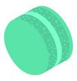 green cream macaroon icon isometric style vector image vector image
