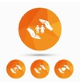 Hands insurance icons Human life-assurance vector image vector image