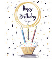 happy birthday colorful poster vector image vector image