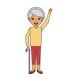 happy old woman grandma standing cartoon vector image