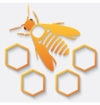 Icon bee and honeycomb vector image