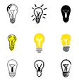 icons lamp vector image