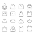 icons set of shopping bags vector image