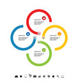 infographic circle icon set colored vector image