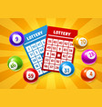 lottery colored number balls and tickets vector image