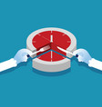 manager and time slice concept business vector image vector image