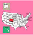 map colorado us state location map vector image vector image