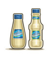 mayonnaise bottles vector image vector image