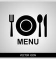menu icon vector image vector image