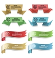 Modern ribbons and banners vector image vector image