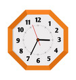 octagon shape isolated wall clock vector image vector image