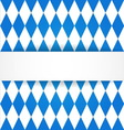 Oktoberfest background Bavarian flag pattern vector image vector image