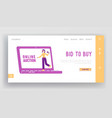 online auction business or charity landing page vector image vector image