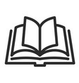open book icon knowledge and text symbol vector image