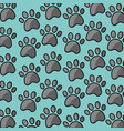 pet paw print dog cat seamless pattern vector image