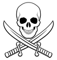Pirate symbol vector image vector image