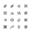 science and physics related icon set in outline vector image vector image
