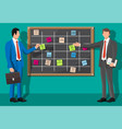scrum agile board and businessman vector image