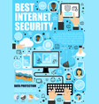 secure online data internet security vector image vector image