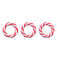 set candy cane circle frames swirl hard candy vector image vector image