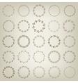 set hand-draw victory laurel wreaths vector image vector image