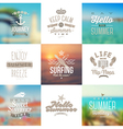 set travel and vacation type emblems vector image vector image