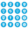 shields icon blue vector image vector image