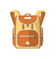 sport haversack isolated icon vector image vector image