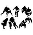 sumo wrestlers vs vector image vector image
