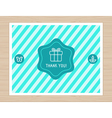 thank you card in flat style vector image vector image