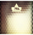triangle coffee brown color vector image vector image