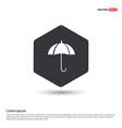 umbrella icon hexa white background icon template vector image
