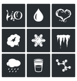 Various physical state of water icons set vector image vector image