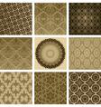 Vintage Floral Pattern Set vector image vector image