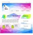 Website polygonal design vector image