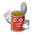 with phone character canned food isolated on vector image