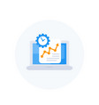 work productivity growth icon vector image vector image