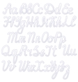 Writing alphabet white vector image