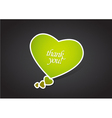 valentines heart message bubble vector image