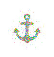 abstract anchor splash vector image vector image
