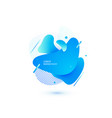 abstract liquid shape fluid design isolated vector image