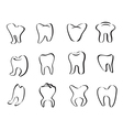 abstract tooth icon vector image vector image