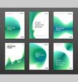 annual report cover design templates set vector image