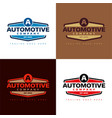 automotive company vector image vector image