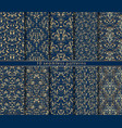 baroque seamless patterns set vector image vector image