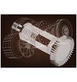 belt gear vector image
