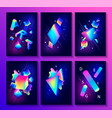 big set of creative design posters vector image