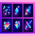 big set of creative design posters vector image vector image