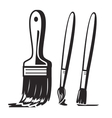 black paint brush vector image vector image