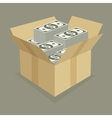 Box of money vector image vector image